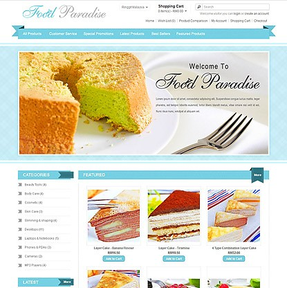 FoodParadise Template