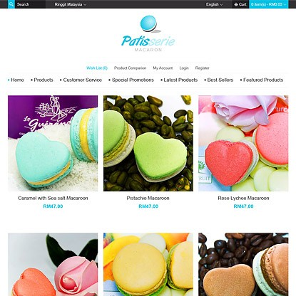 Patisserie Macaron Template